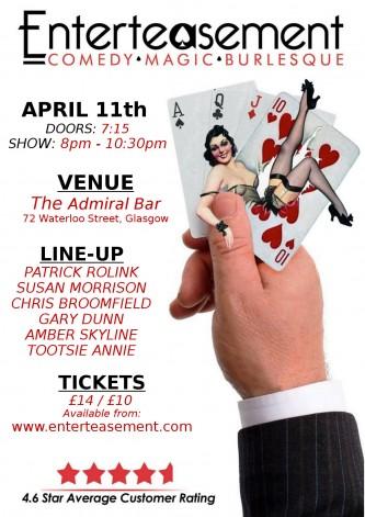 Poster for Comedy Magic Burlesque show