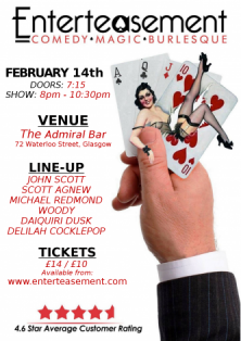 Valentines poster with line-up